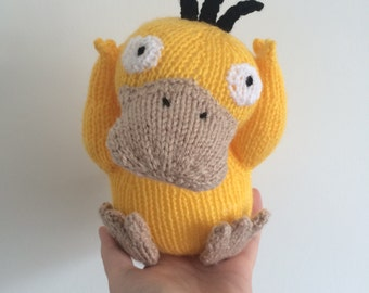 Psyduck pokemon knitting pattern soft toy pokemon amigurumi duck animal toy pattern plushie