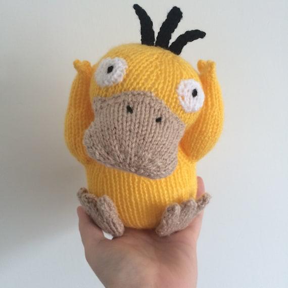 Psyduck Pokemon Knitting Pattern Soft Toy Pokemon Amigurumi Etsy