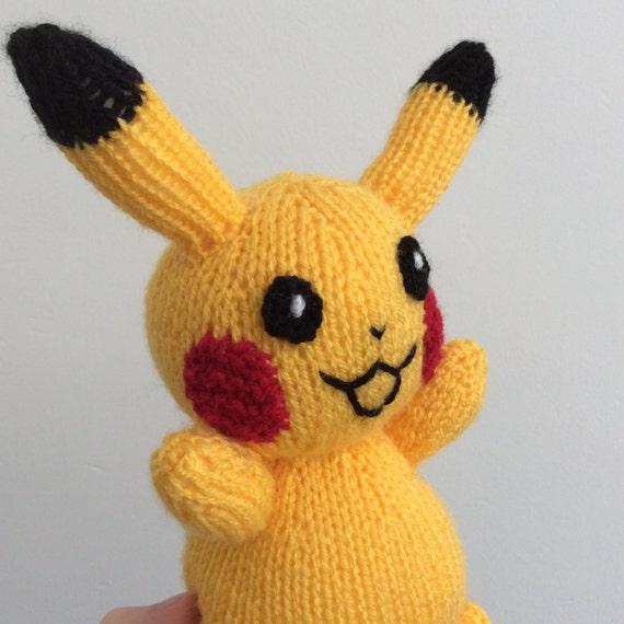 pikachu knitting pattern pokemon doll amigurumi pattern pdf | Etsy