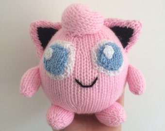 Jiggypuff knitting pattern pokemon plushie toy knit pattern amigurumi