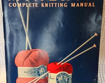 Vintage 1936 Minerva Complete Knitting Manual Soft Cover