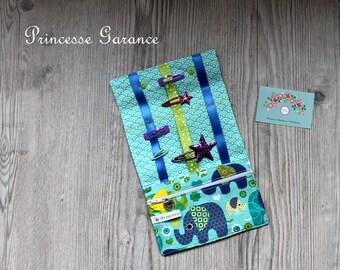 Birthday * pouch, clutch pins, elastic, cotton elephant Mint