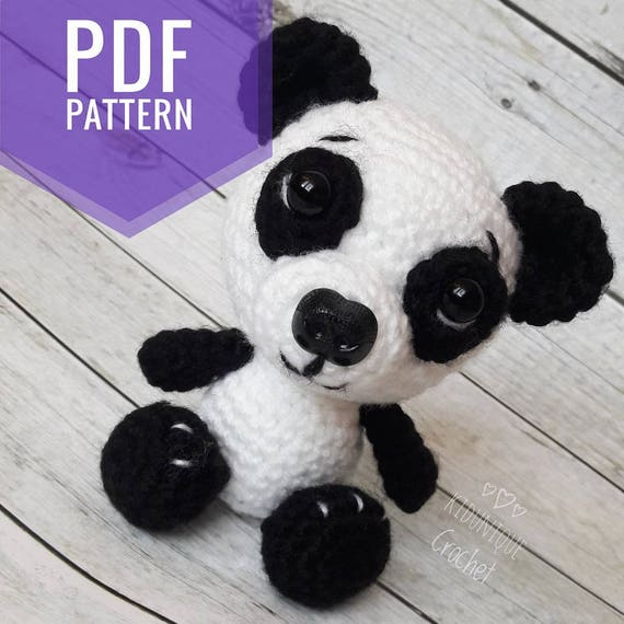 Crochet Panda Toy Pattern Pdf Crochet Toy Pattern Panda Etsy