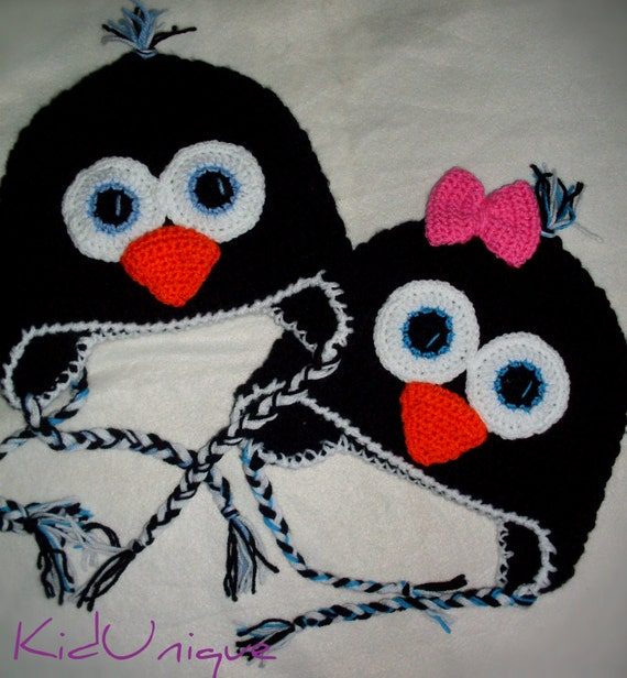 Pinguin Hut Häkeln Kinder Hut Baby Pinguin Foto Stütze Etsy