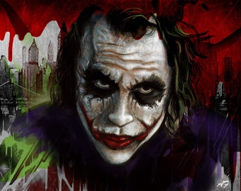 e55e41e55 Heath Ledger Joker POSTER Print 12 x 16 inches