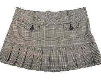 90s Pleated Grunge Plaid Schoolgirl Skirt