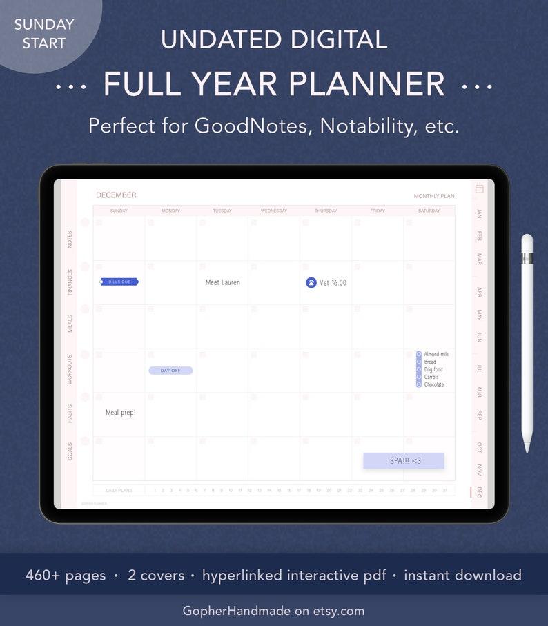 Undated Planner  Budget Planner  Daily Agenda  Habit image 0