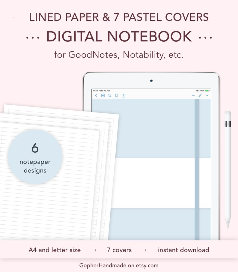 Digital Lined Paper Notebook Ruled Paper Template Legal image 0