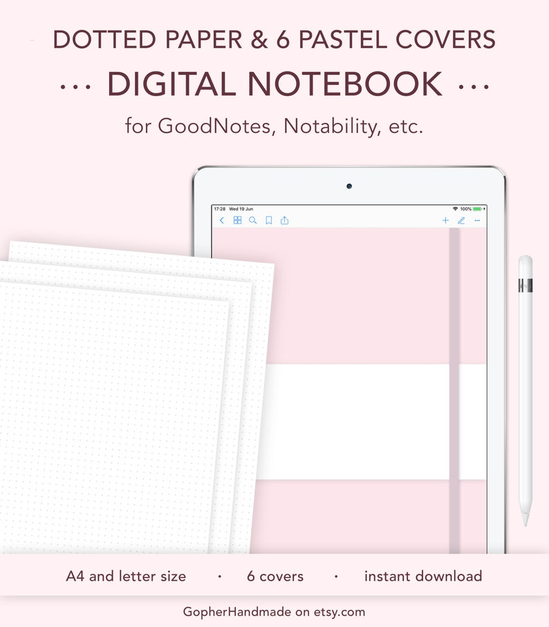 Digital Notebook Goodnotes template Goodnotes notebook image 0