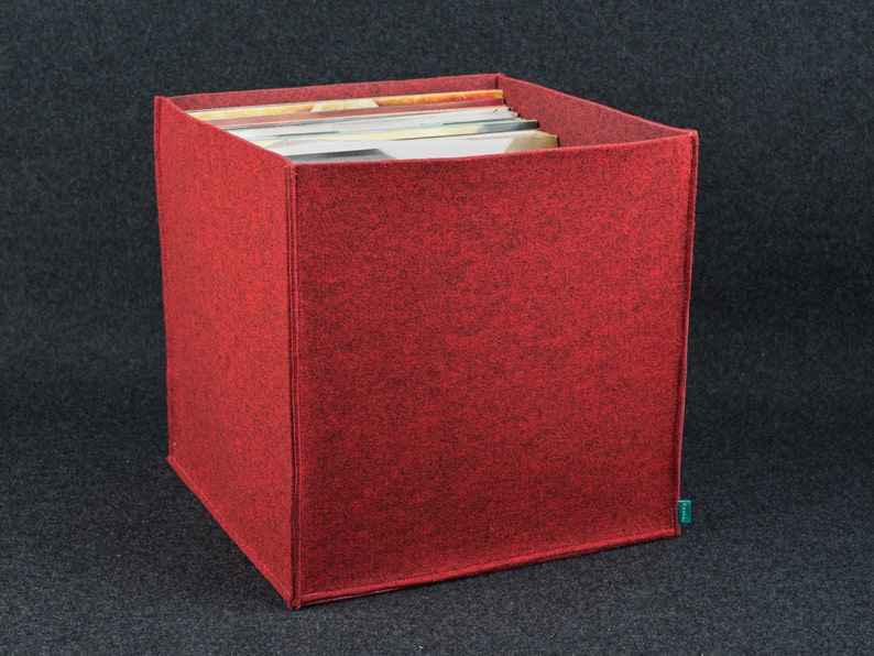 Vinyl storage record storage felt storage box storage bin image 0