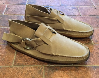 961bff6792 Quoddy ring boot moccasins suede with crepe soles size 10 10.5 made in  maine usa