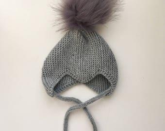 The Scandi Baby Pixie hat in Merino wool - size newborn