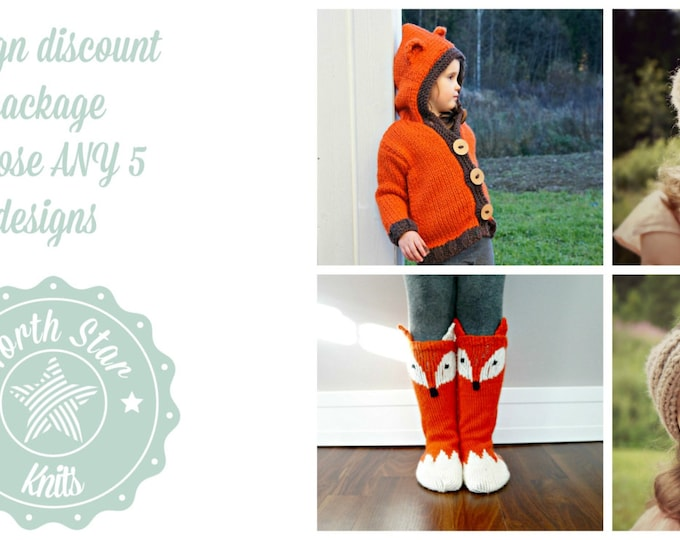 Design Discount Package Choose ANY 5 patterns