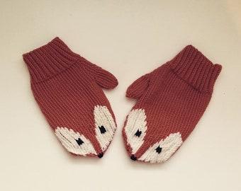 Custom made Little Foxy Mittens