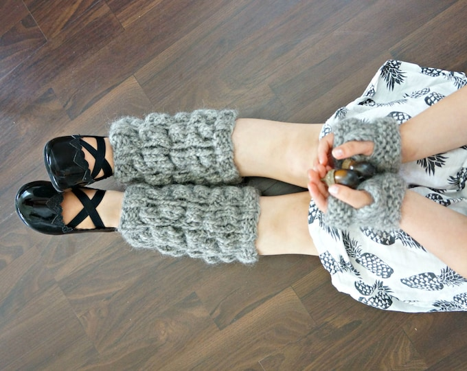 KNITTING PATTERN - The Selma set - knitted hand and leg warmers