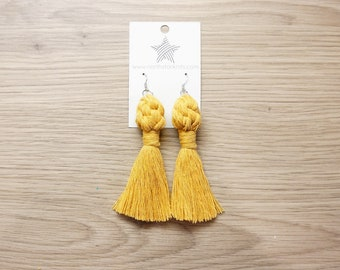 Macrame Knot Earrings