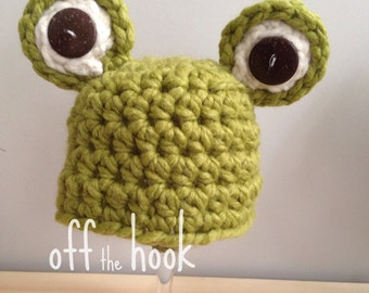 Chunky Crocheted Frog Hat