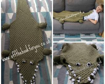 Eaten by  a Crocodile / Alligator ( Crochet PATTERN)