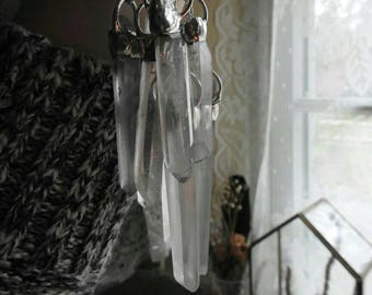 Clear Quartz Icicle Necklace // Boho // Gypsy // Witch // Bohemian // Witchy // Metaphysical Jewelry