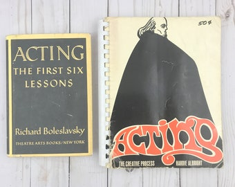 Acting Book Set - Acting - The First Six Lessons - The Creative Process - 1967, 1994 - Vintage Book - Acting Troupe - Theater - Stage Drama