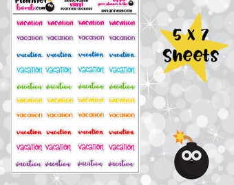 Vinyl Vacation Planner Stickers