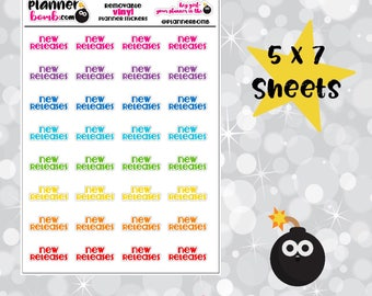 New Releases Removable Planner Stickers