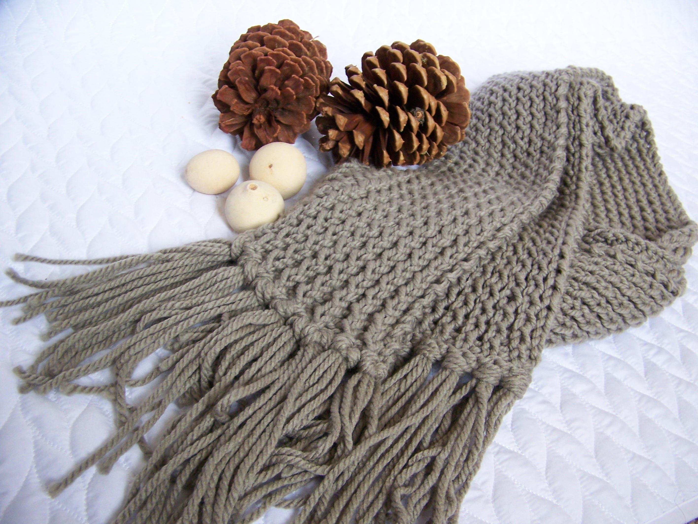 knitted scarf pattern, knit pattern, knit scarf, chunky scarf ...