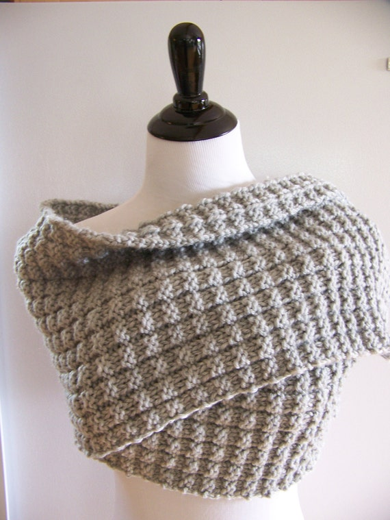 Knitting Pattern Chunky Grey Scarf Charcoal Four Row Etsy
