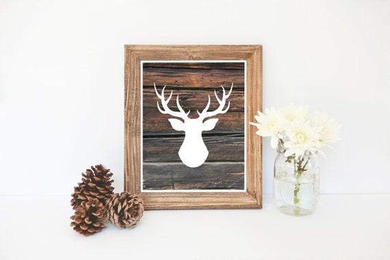 photo regarding Printable Reindeer Antlers named Deer Silhouette Print, Wooden Print, Xmas Printable, Reindeer Printable, Wooden Artwork, Deer Antlers, Deer Silhouette, Fast Obtain