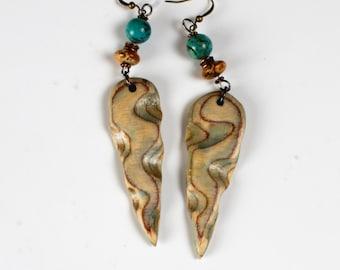 Dagger Earrings in blue