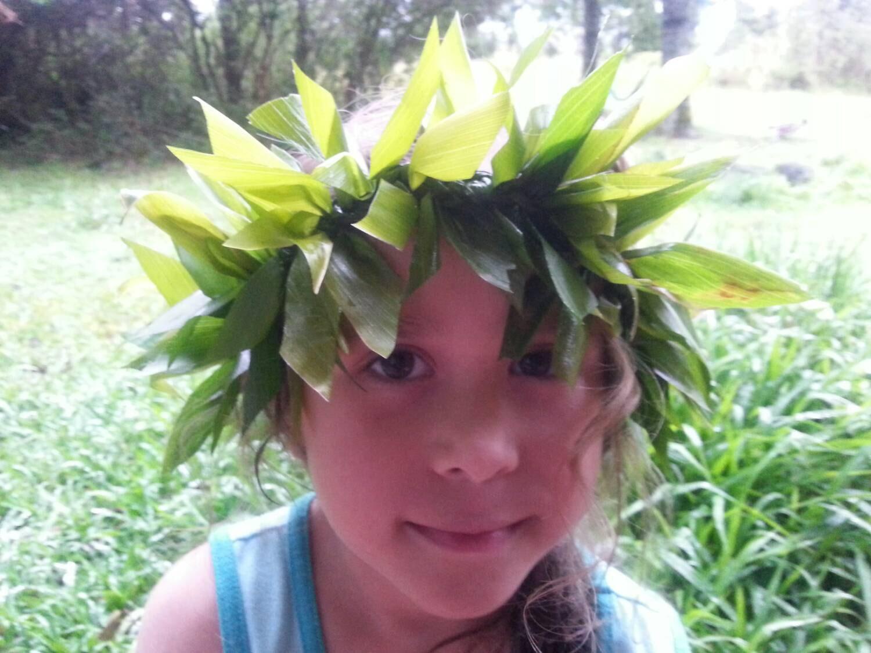Ti leaf haku hawaiian head crown hawaiian lei graduation etsy zoom izmirmasajfo