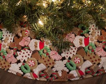 christmas tree skirt cookie tree skirt tree skirt holiday decor christmas cookies santa claus christmas tree ice skates wreath 36 - Christmas Tree Skirts Etsy