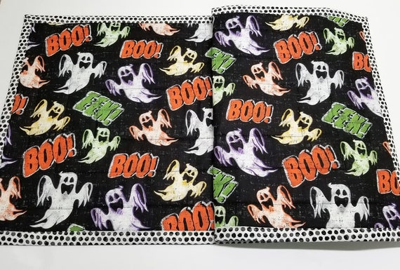 Table Runner-Halloween Table Runner-Ghosts-Ghouls-Boo-Festive Table Runner-Happy Halloween-Halloween Party-Spooky-Haunted-40 x 14