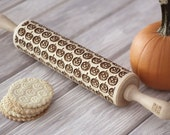 JACK O 39 LANTERN - embossed, engraved rolling pin for cookies - perfect Halloween idea