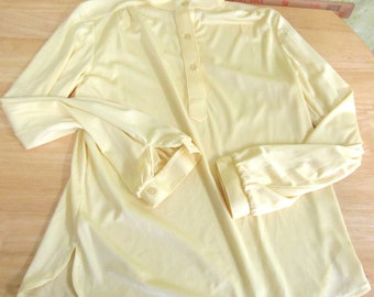 Vintage Gabrielle Solid Yellow Top L