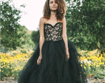 items similar to black lace corset wedding dress