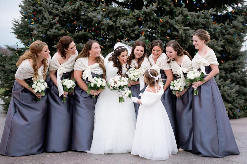 8efe99ec8e Ivory Bridesmaid Shrug Wedding Caplet Bolero Shawl Wedding