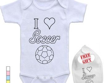 30bbcfa1607 Girl soccer onesie