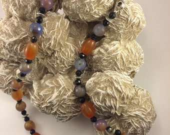Carnelian, fire agate necklace