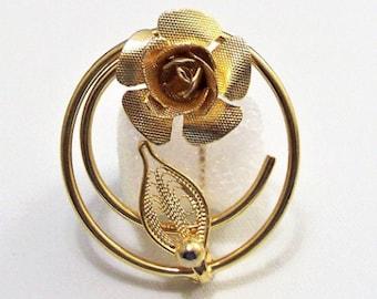 Rose Petal Vintage Brass Floral Findings 34mm Three Petals 4 Pcs
