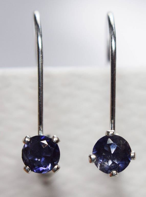 Genuine Iolite Gemstone Earring
