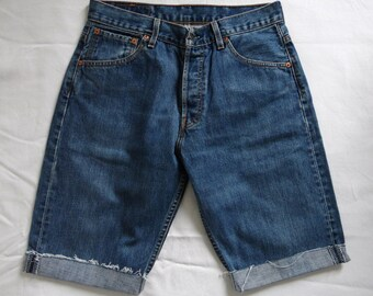 Levis 501 Denim Etsy Couper Short Pour Jean Homme Long Bleu Fpqwt1 fR6nw8pq