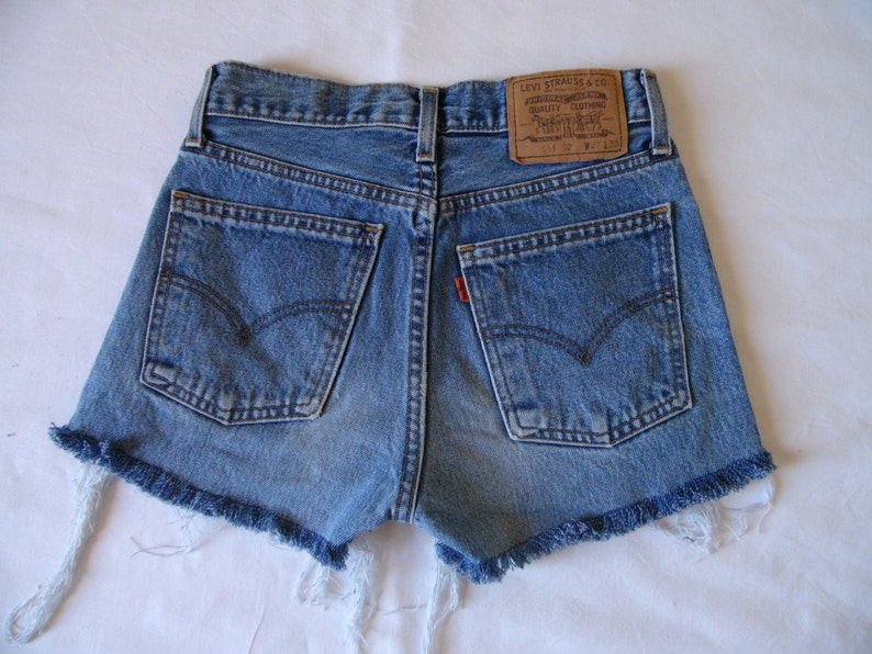 be9a08b3 High waisted Levis shorts blue Levis 611 denim jean shorts | Etsy