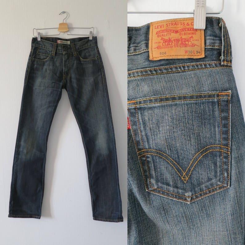 51e444018858d1 Levis 506 Jeans dunkelblaue Jeans gerades Bein Herren Damen