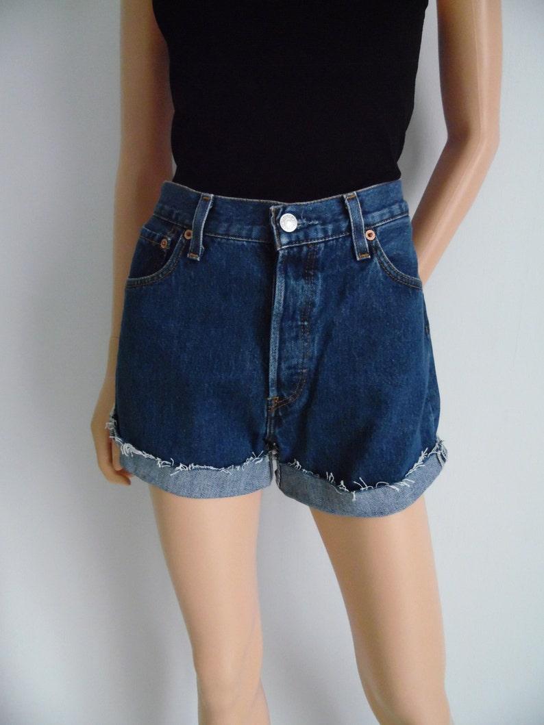 3316da80f1c High waisted shorts vintage Levis 501 blue denim jean shorts | Etsy
