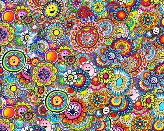 Smiley Face Art/Smiley Mandala/Mandala Art/Visionary Art/Psychedelic Art/Happy Art/Zentangle/Spiritual Art/Hippy Art/Bohemian Art/ Boho