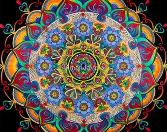 Mandala Art, Spiritual Art, Original Art, Meditation Art, Fine Art, Matted Art, Reclaimed Barn Wood Frames, Canvas Prints