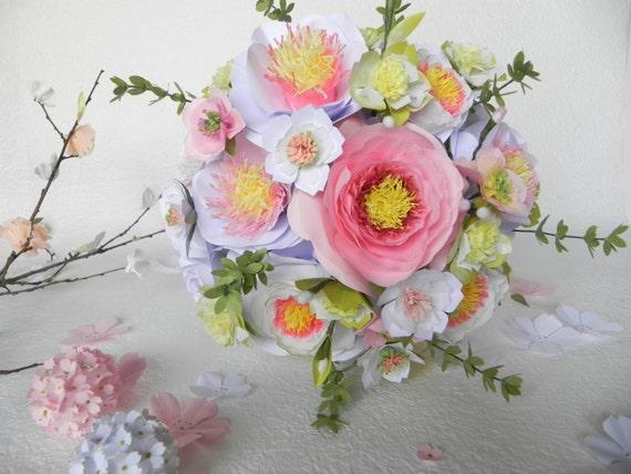Rosa Und Weiss Hochzeit Blumenstrauss Brautstrauss Tatsache Etsy