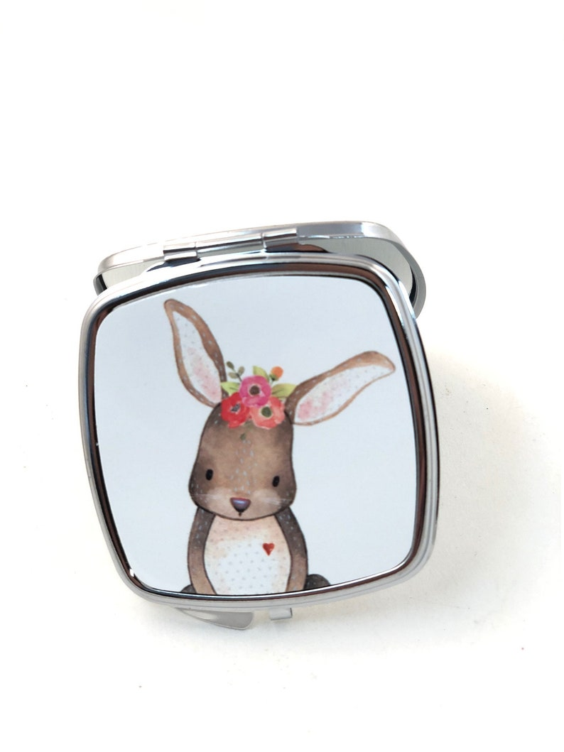 Ruby the Rabbit Little girls Compact Mirror Bunny with image 0
