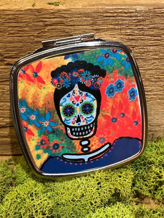 Frida Sugar Skull Compact Mirrors, Sugar Skull Compact Mirror